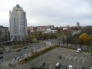 """Вид из окна гостиницы """"Могилёв""""."""