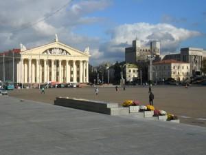 Минск. Октябрьская площадь.