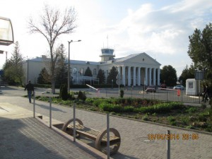 Старое здание аэропорта Симферополя.