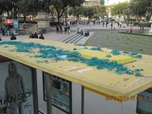 Площадь Каталонии - популярная остановка.